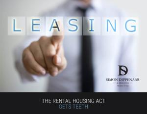 Rental Housing Act