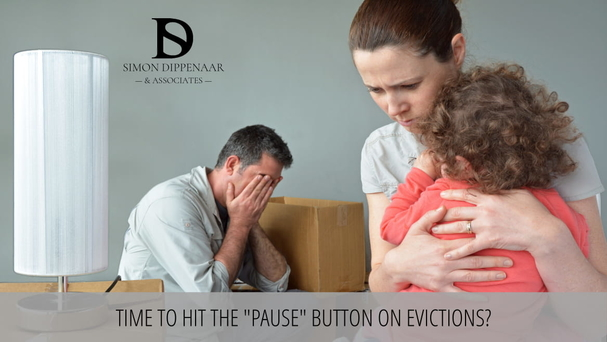 "Time to hit the ""pause"" button on evictions. Eviction Lawyers"