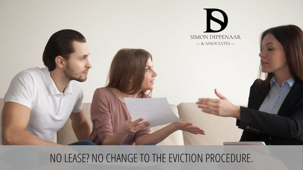 No lease? No change to the eviction process. Eviction lawyers